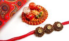 Handmade Rakhi Rakshabandhan Beaded Handmade RAKHI with roli by FolkStroke, $9.98