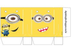 Minions: Free Printable Candy Paper Bag.