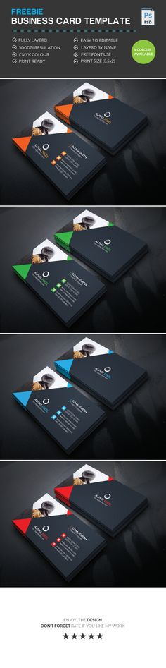 Corporate Business Card Design 300 Dpi Cmyk Color 35X2 Print Size