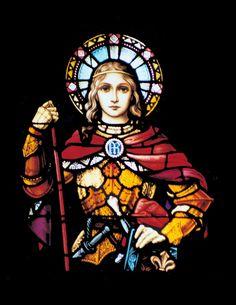 Joan of Arc stained glass Catholic Art, Catholic Saints, Patron Saints, Religious Art, Joan D Arc, Saint Joan Of Arc, St Joan, Stained Glass Tattoo, Stained Glass Art