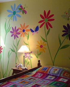 Giant Flower Bedroom by comasurart, via Flickr