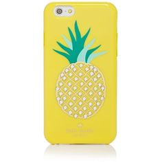 kate spade new york iPhone 6 Case - Resin Embellished Pineapple ($45) ❤ liked on Polyvore featuring accessories, tech accessories, lemon yellow and kate spade