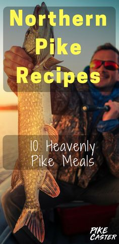 10 Great Northern Pike Recipes showing how to cook fish in the oven, on the stove, and on the grill. Cooking Pike Fish isn& very hard at all and Northern Pike Baked will taste delicious. Shellfish Recipes, Seafood Recipes, Northern Pike Recipe, Pike Recipes, Octopus Recipes, Pike Fishing, Fishing Tips, Fishing Stuff, Seafood Party