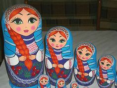 Limited Edition Exclusive Russian Matryoshka Nested Wooden Dolls 15PCHANDPAINTED | eBay