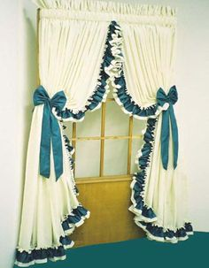 **I WANT THESE CURTAINS!!** Image detail for -Double Ruffled Pole Top Curtain Country Curtains