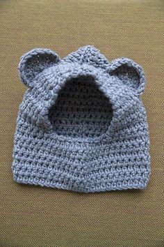 Veritas - free pattern Kids hat with ears Crochet Hood, Crochet Diy, Learn To Crochet, Crochet For Kids, Knitting Projects, Crochet Projects, Knitting Patterns, Crochet Patterns, Brei Baby