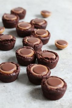 Toffifee Brownie Bites | Bake to the roots