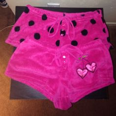 Rue 21 pink plush shorts(2) Super soft and plush short from Rue 21. Good condition, one of the tags has partially torn off(pictured). Rue 21 Shorts