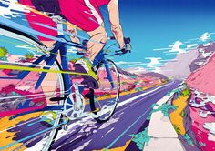 Illustration, Design & Art Direction by Andrew Archer of Melbourne, Australia. Creating innovative and original imagery for agencies, brands and people. Art And Illustration, Bicycle Illustration, Gravure Illustration, Illustrations, Bike Design, Design Art, Graphic Design, Grid Design, Animation