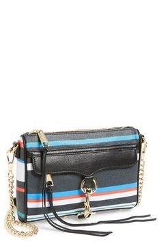 Rebecca Minkoff 'Mini MAC' Stripe Leather Crossbody Bag