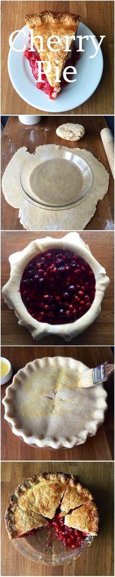 How to make cherry pie step-by-step. #cherry #pie #recipe
