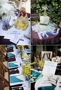 Perfect Chemistry Theme Bridal Shower by Alders Photography - Style Me Pretty