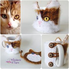 Just finished a custom cozy for a lovely lady who adopted this beautiful cat from @kareq8. Thank you for being so patient. This one is by far one of my favorites  just something about his gorgeous eyes. @i.support.kareq8 #whiskersandyarn #Cupcoziesforkareq8 #whiskersandyarn #cupcozy #mughug #coffecozy  #Q8crochet #kuwaitcrochet #kuwait #q8 #kuwaithandmade #everythingkuwait #yarnaddict #crochetaddict #Q8  #q8sale #kuwaiti #q8instagram  #kwt #mugcozy #crochetersofinstagram #instacr...