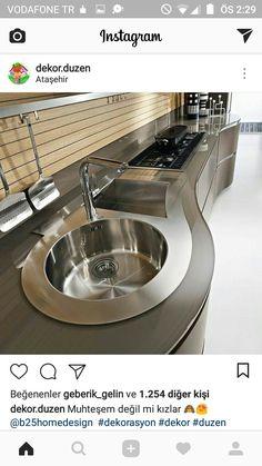 Mutfak Diy Kitchen Storage, Home Decor Kitchen, Kitchen Interior, Kitchen Design, Interior Design Layout, Restaurant Interior Design, Interior Design Living Room, Kitchen Corner Cupboard, Cuisines Design