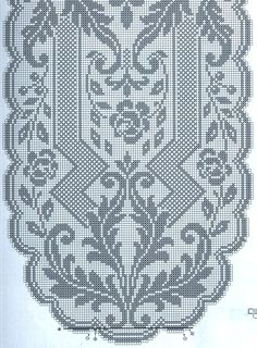 Kira crochet: Crocheted motif no. Crochet Doily Diagram, Filet Crochet Charts, Crochet Doily Patterns, Crochet Art, Crochet Motif, Crochet Shawl, Crochet Designs, Crochet Doilies, Crochet Stitches
