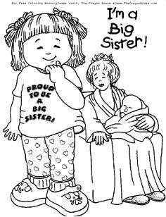 free downloadable coloring pages for big sisters | Im a Big Sister Printable | Big Sister Coloring Pages ...