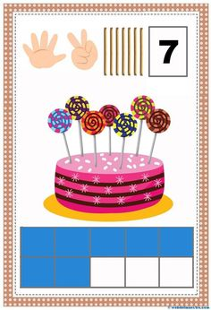 Conteo-cartel 7 Preschool Math, Kindergarten Math, Classroom Activities, Funny Numbers, Math Numbers, Animated Numbers, Sudoku, Math Sheets, Math Humor