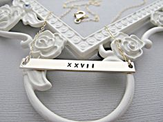 ROMAN NUMERAL necklace, custom roman numeral jewelry, date necklace, numeral DATE Jewelry,gold roman numeral necklace, Personalize Date