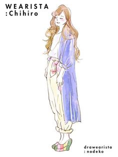 「のでこさん」のイラストに学ぶ!好印象なおしゃれコーデテク:抜け感コーデ Fashion Art, Love Fashion, Minimalist Drawing, Sketches Of People, Watercolor Fashion, Anime Outfits, Fashion Sketches, Easy Drawings, Illustrators