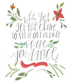 "FREE ""I Hope You Dance"" Printable"