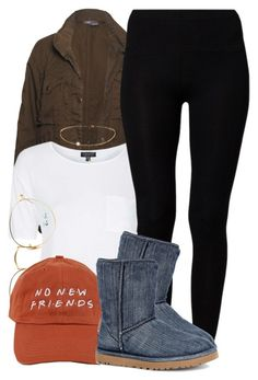 """""""No New New """" by trinsowavy ❤ liked on Polyvore featuring Vince, Topshop, American Vintage, Ray-Ban and UGG"""