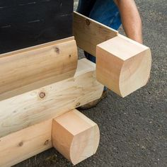 Modulog Industries Manufactures Solid Cedar Log Siding Packages Including Patented Log Corners