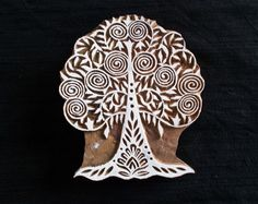 Tree of Life hand carved Indian block printing stamp/tjap/textile pottery stamp/wooden block for printing/ paper and fabric printing stamp