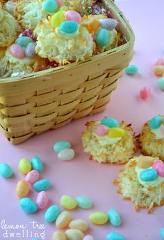 Festive Coconut Macaroon Nests from Lemon Tree Dwelling - the perfect Easter treat!