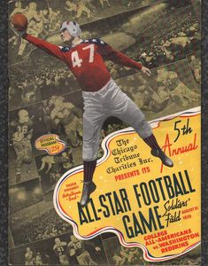 Nothing more American than football... bring out the RWB for the all-stars. 1938 All Americans vs. the Washinton Redskins vintage All Star Program.
