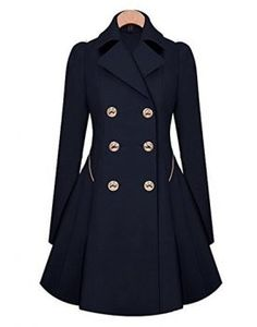 OUGES women's Double-Breasted Long Thin Trench Coat. Cozy, comfortable, outfit, fashion, street wear, street fashion, styling, style, look, stylish, navy, beige