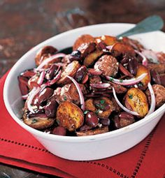 Recipes from The Nest - Roasted New Potato Salad With Olives, Red Onions, and Creamy Vinaigrette