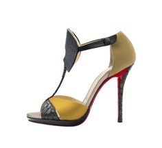 Christian Louboutin Aztec 120 Guache Satin Version Multi fall winter 2014