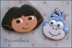 Dora y Botas galletas decoradas