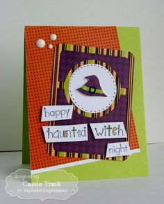 Haunted Witch Card by Cassie Trask #Cardmaking, #LittleBitsDies, #Halloween…