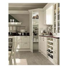 corner pantry closets with cabinet doors