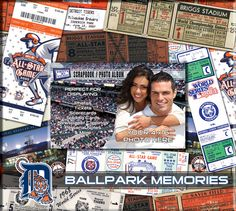 That's My Ticket - Major League Baseball Collection - 8 x 8 Postbound Scrapbook and Photo Album - Detroit Tigers at Scrapbook.com $16.99