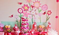 flower garden party decor