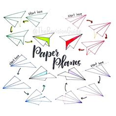 """Apsi's sketchnotes and doodles on Instagram: """"#TRG_RandomDoodle How to draw paper planes.."""