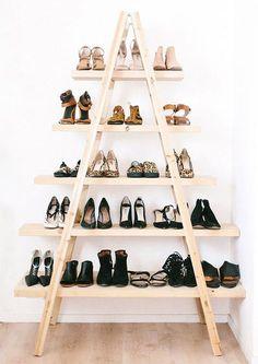 11 Ideias criativas para organizar sapatos