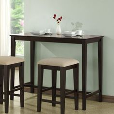 Monarch Specialties Inc. Counter Height Kitchen Table in Cappuccino $173