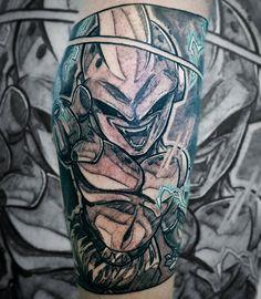 Kid buu 💜 Dragonball tattoo von Mr. Catatafish Tattoo. Sketchy Style. Manga Tattoo, Anime Tattoos, Sketchy Tattoo, Dragon Ball, Kid, Portrait, Style, Child, Swag