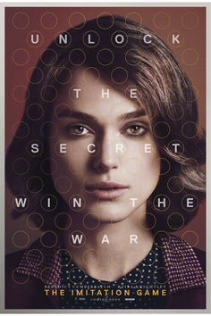 FIRST LOOK: Keira Knightley The Imitation Game poster exclusive — Designspiration