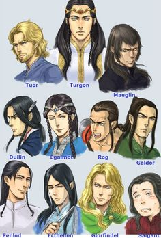 Lords of Gondolin<<<Ecthelion is my favorite because he plays the flute.  Who's yours?