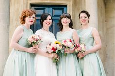 One of our brides with her bridesmaids Hair & makeup WHAM Artists http://weddinghairandmakeupartists.com/