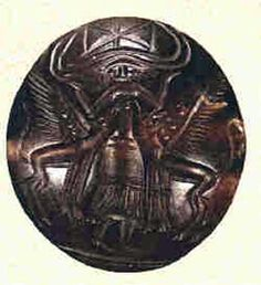 Seal showing Mistress of the Animals, one of the identities of the Minoan Mother Goddess
