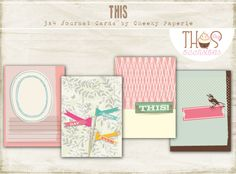 Eight printable vintage themed digital journaling cards for Project Life or other pocket style scrapbooking albums. Simply print and cut out!
