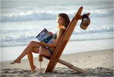 Catch a Wave with These Bombwatcher Surfboard Chairs #beach #chairs trendhunter.com