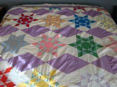 Vintage Quilt Top Machine Sewn   eBay