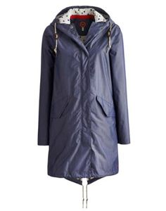 Joules Womens Parka-style Jacket, Chambray.                     For keeping the cold at bay and the rain away, this waterproof parka-style jacket ticks all the boxes. Exceptional light, it�s great to scrunch up and pack away. The lining has been added to make sure this parka packs a punch even when over the back of a chair.