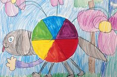 8 Colorful Art Activities to Teach Rainbow Order - The Art of Education University Elements And Principles, Elements Of Art, Color Art Lessons, 2nd Grade Art, Grade 1, Tertiary Color, Rainbow Art, First Art, Elementary Art